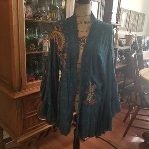 Free People wide sleeve shrug size xs/s